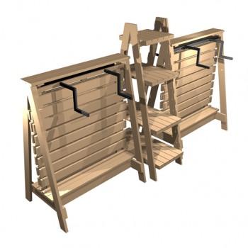 Clothes001-A-frames-&-ladder