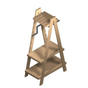 Clothes-ladder-1900mm-with-shelf-iso