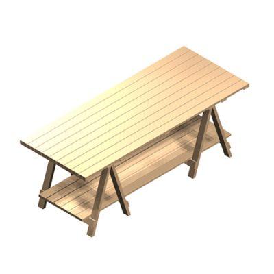 Trestle-table-2200mm-long-base-shelf-ISO-1
