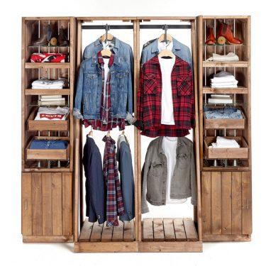Artisan-clothes-wall-display