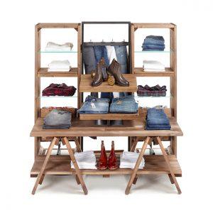 Open-Rustic-wooden-clothes-shop-fixtures