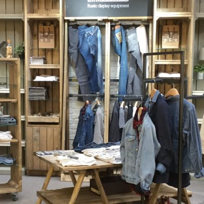 Rustic-Clothing-Wall-Display