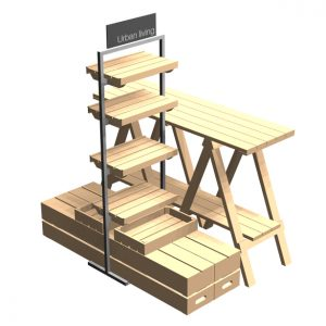Tallboy-500mm-clothing-island-Trestle-table