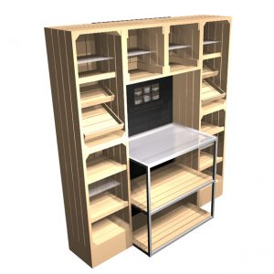 2m-Wall-display-with-metal-table