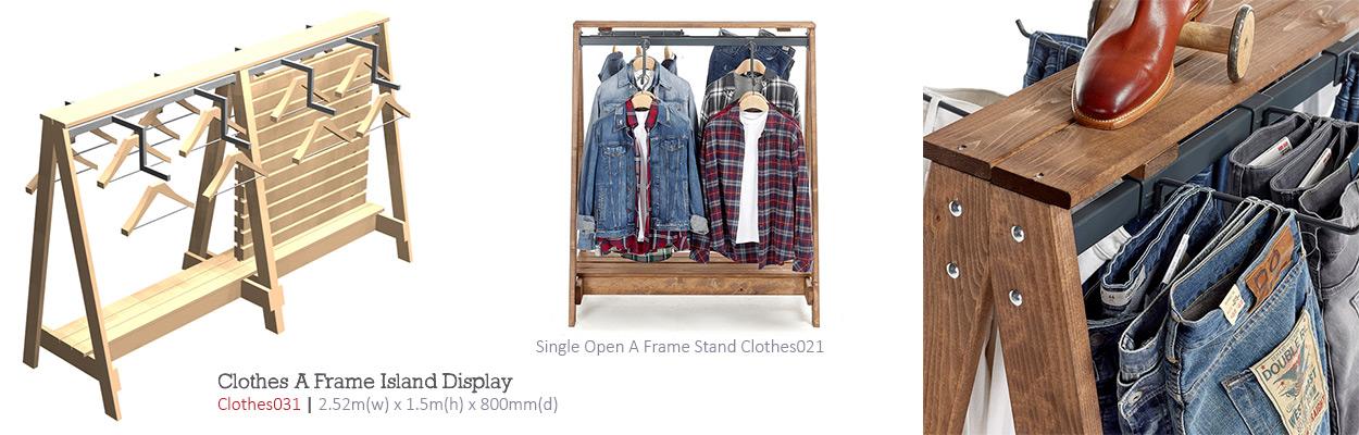 Clothes-A-frame-Island-Unit