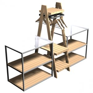Cubes-with-clothes-ladder