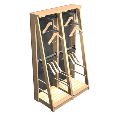 Clothing-Wall-A-frame-x2-double-hanging-arrangement