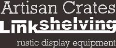 Link Shelving: Artisan Crates - Rustic dislay equipment