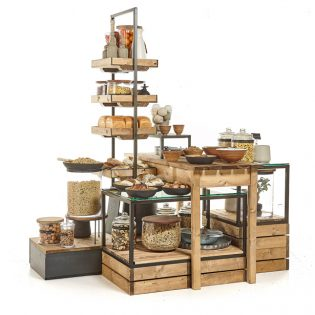 Central-large-island-rustic-tables-cubes-and-tallboy