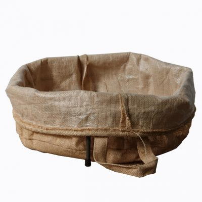 Hessian-bag-in-low-ring-support