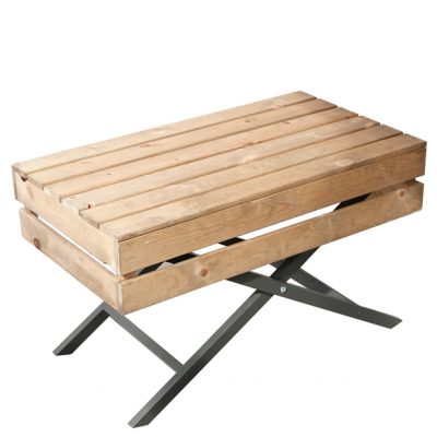 Waiters-table-800mm-Open-Crate-with-Short-legs