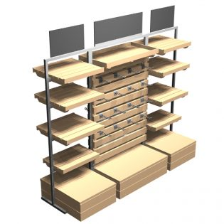 Tallboy-mid-height-Shelving-and-hookrack-combination