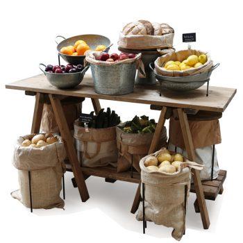 Trestle-table-Finishe-touches-Fruit-&-veg