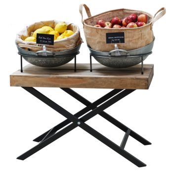 Waiters-Table-with-Galvanised-bowls-fruit-display