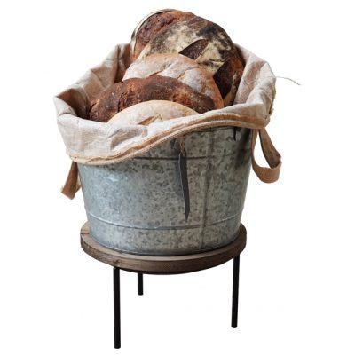 Wine-Bucket-with-jute-bag-bread-display
