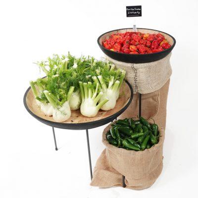 Fresh-veg-table-top-display