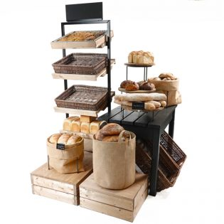 Bakery-island-with-tallboy-Black-gift-table-and-plinths2