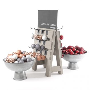 Table-top-hook-racks-with-galvanised-bowls-christmas
