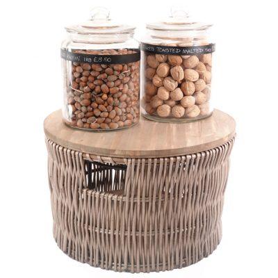 500mm-wicker-storage-basker-with-glass-jars-on-top