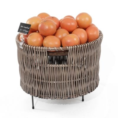 Wicker-dump-Bin-500mm-on-merchandising-riser-grapefruit-display-615