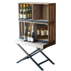 Waiters-Table-with-stacking-crates-for-wine-display