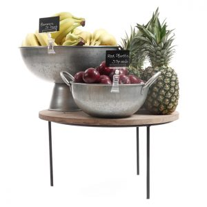 500mm-Merchandising-riser-250mm-high-with-galvanised-bowls-fruit-display