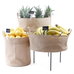 Hessian-Dump-Bins-Fruit-display