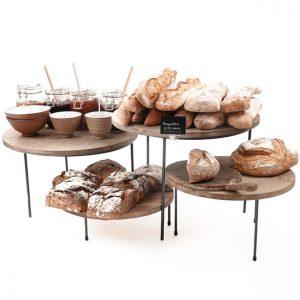 Merchandising-risers-for-breakfast-bar