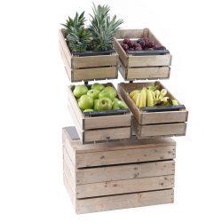 Tilt-stand-on-double-plinth-Fruit-display