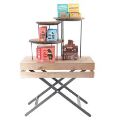 Waiters-Table-with-merchandising-risers-with-health-bars2-615