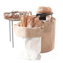 hessian-dump-bin-white-sack-and-merchandising-riser-bakery-display