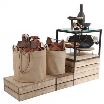 Gift-Plinths-with-Hessian-dump-bins-and-cube-615px