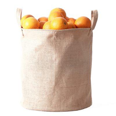 Hessian-Tall-Dump-bin-360mm-Oranges
