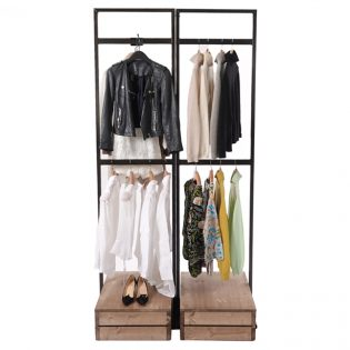 Clothes-Full-height-Tallboy-double-hanging-display-615px