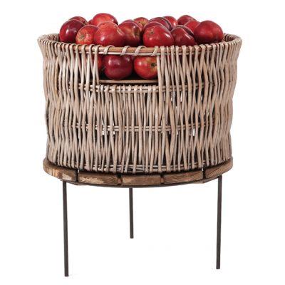 wicker-basket-500mm-on-Merchandising-riser-apples